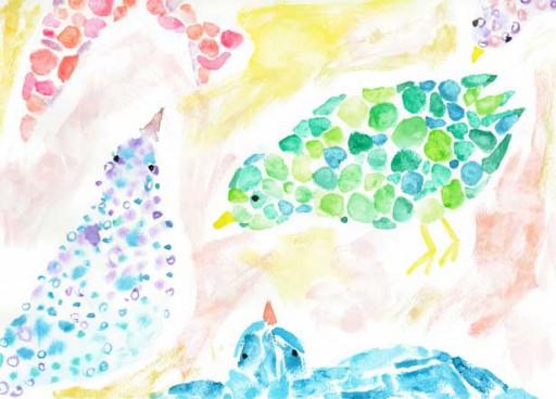 : 花の水彩画