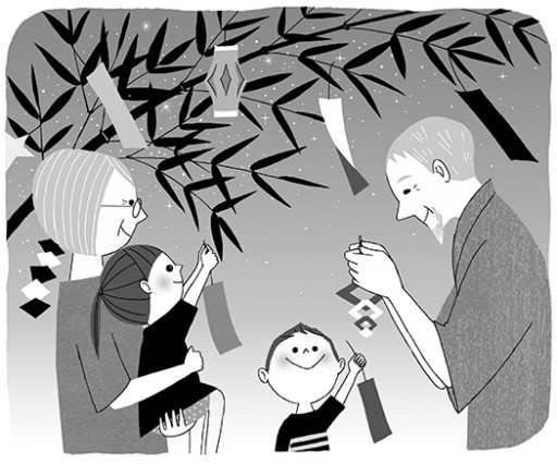 : 月間子育て雑誌『灯台』コラム挿絵