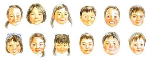 : お子様の似顔絵